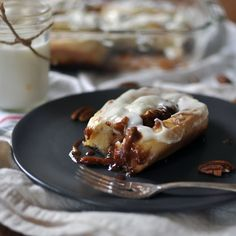 Overnight Cinnamon Rolls with Pecans and Cream Cheese Frosting