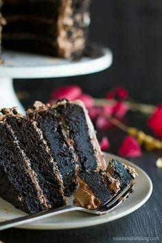 Dark Choc Cake w Nutella Buttercream