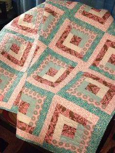 Aqua Pink and Brown Blend Beautifully In by WrappingYouInWarmth, $101.00