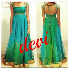 Elegant Fashion Wear Explore the trendy fashion wear by different stores from India Long Gown Dress, Frock Dress, Saree Dress, Long Frock, Long Dress Design, Dress Neck Designs, Ladies Dress Design, Blouse Designs, Frock Design