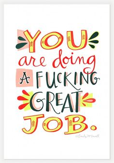 you are doing