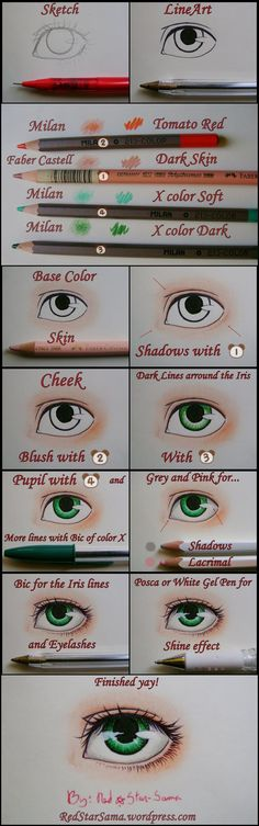 How to Paint Eyes -Tutorial- by RedStar-Sama on deviantART