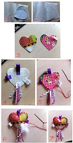sleutelhanger van tafelzeil 5 Min Crafts, Ring Crafts, Love Valentines, Sewing Projects, Paper Crafts, Homemade, Crafty, Beads, Christmas Ornaments