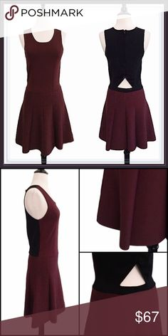W118 by Walter Baker open back pleated dress ➖BRAND: W118 by Walter Baker ➖SIZE: Small ➖STYLE: Burgundy knit stretch pleated dress with a small open back. Perfect colors for the fall and the dress is thick and heavy enough to wear with tights for this weather. ➖MATERIAL : 55% Rayon 28% Nylon 17% Spandex W118 by Walter Baker Dresses