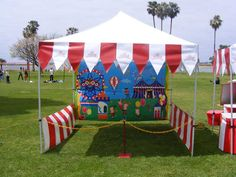 carnival booths - (from Bing Images) - adding lots of color to your booth is sure to bring in more kids!