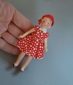 Sold MINIATURE Art Deco GERMAN Bisque Doll House by YearsAfter, $75.00