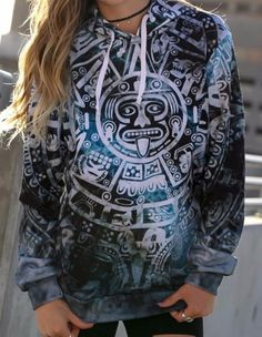 """New """"Totem"""" Pullover Hoodie! Specifications: - 100% polyester but feels as soft as cotton - Guaranteed. - Vibrant full color print, front & back - Design will never peel, flake or crack - Extremely So"""
