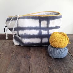 Hand-dyed and handmade cotton bag from booq_s t u d i o