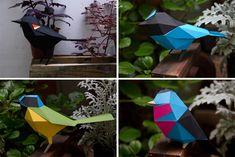 Preste atenção na delicadeza e riqueza de detalhes destas pequenas esculturas de papel. Geométricos e super coloridos, estes origamis capazes de alegrar qu