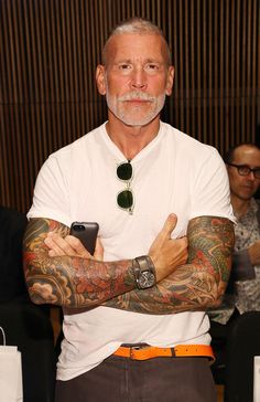 Nick Wooster in David Hart - Front Row - Mercedes-Benz Fashion Week Spring 2014