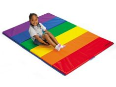 Super-Safe Tumbling Mats - Little ones can tumble, jump or roll head over heels on our thick, safe mats!