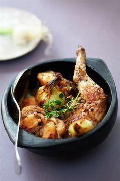 Cocotte de lapin aux oignons -
