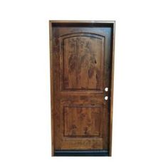 36 in. x 80 in. x 1-3/4 in. English Chestnut Prefinished 2-Panel Top Rail Arch Prehung Knotty Alder Exterior Door-AE-002 at The Home Depot