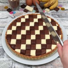 Triple chocolate banana pie by . its so beautiful and ea. Triple chocolate banana pie by . its so beautiful and ea. Cookie Desserts, Just Desserts, Delicious Desserts, Yummy Food, Cooking Cookies, Baking Recipes, Cake Recipes, Dessert Recipes, Drink Recipes