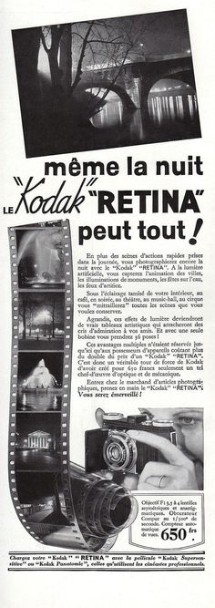 Ministry of Plenty: 1936 Kodak Retina ad, France