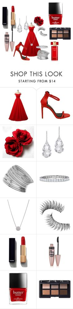 """""""The chic little red riding hood !!!!"""" by benoit-mesange ❤ liked on Polyvore featuring Plukka, Miss Selfridge, Trish McEvoy, Chanel, Maybelline, NARS Cosmetics and Estée Lauder"""