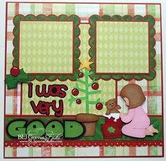 BLJ Graves Studio: Christmas Scrapbook Page - I Was Very Good
