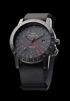 "Airman Base 22 ""Mystery"" ""Stealth"" watch style done well for a 24hr watch."