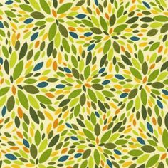 love the green and yellow orange in this fabric