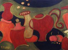 """Objetos Danzantes XII""  - 1998 óleo sobre fibra 70 x 53 cm."