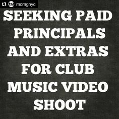 This is real.  You will not get rich.  Contact me immediately. -alec  #Repost @mcmgnyc  Seeking paid principals and extras. 11: pm sharp THIS FRIDAY March 17th. #meatpackingdistrict Music video scene shoot. See previous post for music sample and details. All pretty people welcomed. DM if interested. 21 #free #entry and screen credit for featured roles. . #modelswanted #booking #nyc #party #nightlife #clublife  #bottleservice @1alec