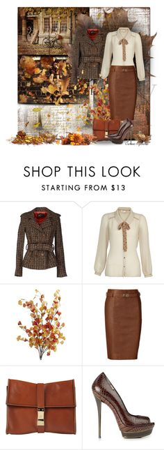 """""""Today... Delicious autumn! My very soul is wedded to it, and if I were a bird I would fly about the earth seeking the successive autumns (George Eliot)"""" by carineazevedo ❤ liked on Polyvore featuring GE, Sinéquanone, Yumi, Pier 1 Imports, Polo Ralph Lauren, Dsquared2 and WALL"""