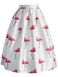 darling pink flamingo skirt