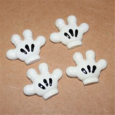 10pcs Cute Mickey Mouse Boy Hands Resin Flatback Cabochon Miniature Art DIY Craft Scrapbooking,22*27mm #Affiliate