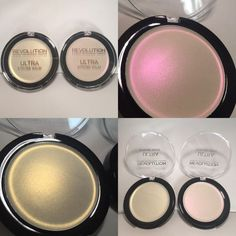 Ultra Strobe Balm from Makeup revolution I was so excited about getting these. I knew I needed them as soon as I saw them advertised! They are a cream highlight and come in a really cute compact, which I like, as it's different to other cream. Makeup Goals, Makeup Inspo, Makeup Inspiration, Makeup Ideas, Makeup Dupes, Skin Makeup, Bronzer Makeup, Makeup Kit, Makeup Products