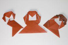 動物折り紙  三猿