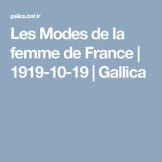 Les Modes de la femme de France   1919-10-19   Gallica