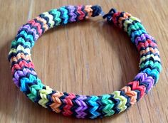 A personal favorite from my Etsy shop https://www.etsy.com/listing/233802267/loom-band-bracelet-hexafish