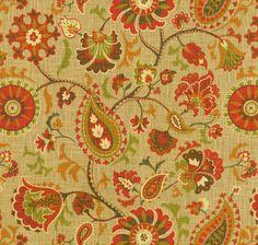 Home Decor Print Fabric- Waverly Siren Song Cayenne
