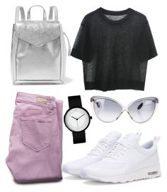 """#51"" by gecegoker on Polyvore featuring moda, Loeffler Randall, Paige Denim, NIKE, Tom Ford, outfit, Pink ve metallic"