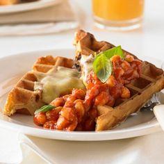 Aussie Vegemite and Cheddar Waffle