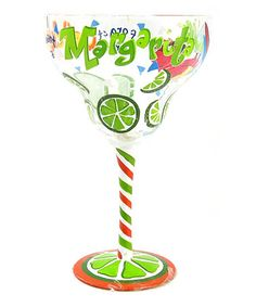 Take a look at this 'Forget the Craker' Hand-Painted Margarita Glass on zulily today!