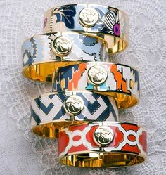 Glamour: Stacked bangles + your fave bikini = all the beachwear you need.   Spartina 449 Bangles