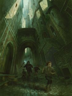 Marc Simonetti - Interior illustration from The Name of the Wind collectors edition by Patrick Rothfuss, 2018 Fantasy Concept Art, Dark Fantasy, Fantasy Art, Fantasy Books, Doors Of Stone, Medieval Door, The Kingkiller Chronicles, Patrick Rothfuss, Libros