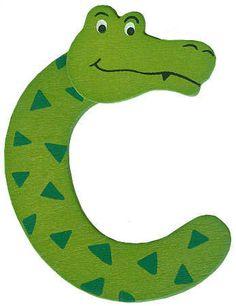 "Animal Letter ""C"" - Scrapbooking - Craft Supplies Preschool Letter Crafts, Alphabet Letter Crafts, Alphabet Book, Spanish Alphabet, Letter Tracing, Alfabeto Animal, Letter C Activities, Preschool Activities, Crocodile Craft"