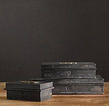 19th C. Belgian Deed Boxes