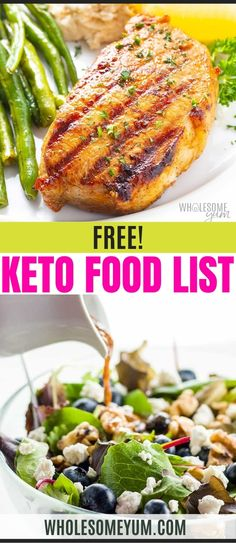 Guessing is never a great way to start a new diet. Know the answers when you need them with the free Keto Food List! Get 230+ keto friendly foods organized in the just way you need them. The list also includes other handy references like serving sizes and net carb counts for each food. Know what you need to know at a glance with this handy (and free) chart! #WholesomeYum Low Carb Keto, Low Carb Recipes, Real Food Recipes, Keto Food List, Food Lists, Keto Side Dishes, Recipe Organization, Serving Size, Paleo