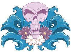 Hawaiian Skull by Corey Gilmore, via Behance