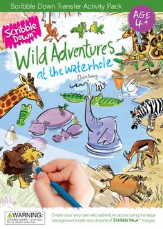 Scribble Down Wild Adventures Transfer Activity Packs: Amazon.ca: Toys & Games