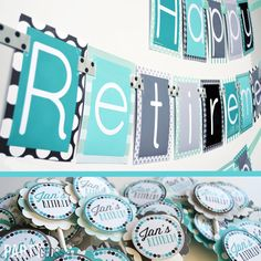 Retirement Party Banner and Cupcake Toppers?Via Etsy ?Retirement Party Decorations ? Retirement Party Decoration Ideas ? Retirement Party ? Retirement ...  sc 1 st  Pinterest & Retirement Party Ideas | Pinterest | Retirement ideas Retirement ...