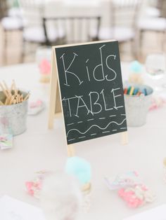 Fun kids table: http://www.stylemepretty.com/2016/10/27/pros-cons-kids-at-wedding/ Photography: Ether and Smith - http://etherandsmith.com/