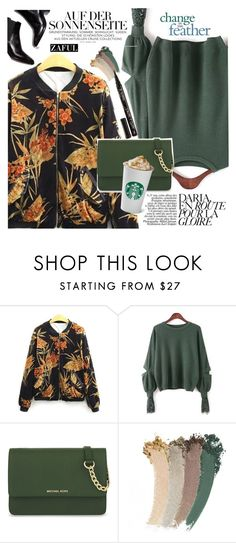 """Floral Jacket"" by vanjazivadinovic ❤ liked on Polyvore featuring MICHAEL Michael Kors, Gucci, Smith & Cult, polyvoreeditorial and zaful"