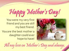 happy mothers day all my love on mothers day and always mom mothers day happy mothers day quotes happy mothers day