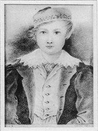 Portrait of Maurice Sand, aged 6 par George Sand