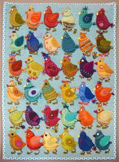 Bird Play #1 by Sue Spargo