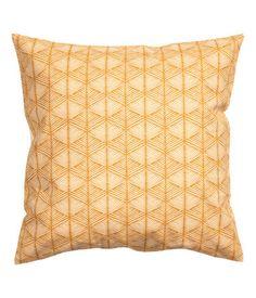 Kuviollinen tyynynpäällinen   Sinapinkeltainen   Home   H&M FI